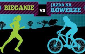 Bieganie vs jazda na rowerze