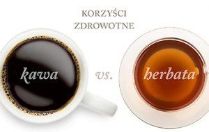 Kawa vs herbata - infografika