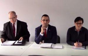Konferencja prasowa w SPZOZ Wolsztyn związana z odwołaniem dyrektora