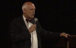 Janusz Korwin-Mikke w Wolsztynie