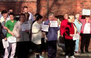 Protest pracowników i pacjentów szpitala w Wolsztynie