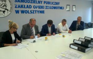 Podpisanie umowy na przebudowę i rozbudowę obiektów SPZOZ Wolsztyn